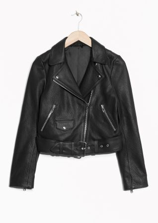 & Other Stories | Cropped Biker Leather Jacket