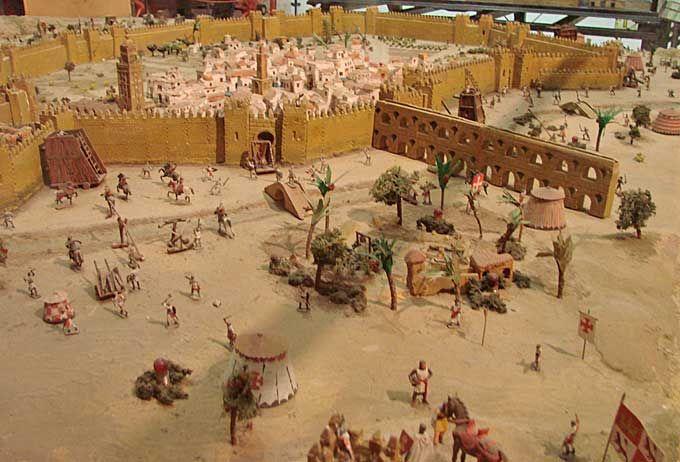 Sevilla: Maqueta de la conquista de Sevilla (Museo Histórico Militar de Sevilla)