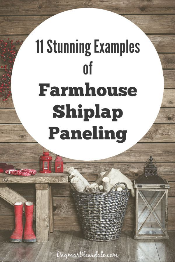 Farmhouse Shiplap Paneling, DagmarBleasdale.com