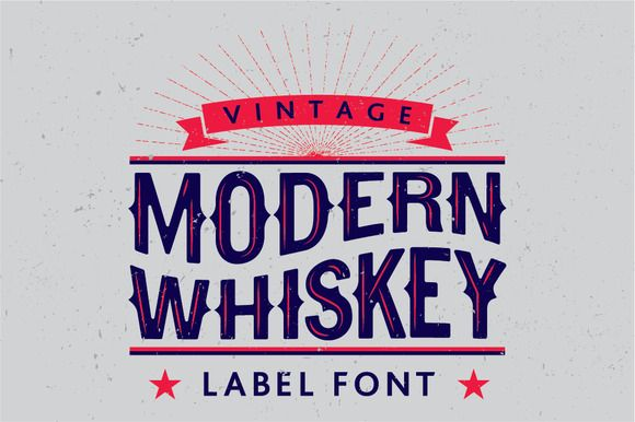 Modern Whiskey label font by All-For-Five on Creative Market