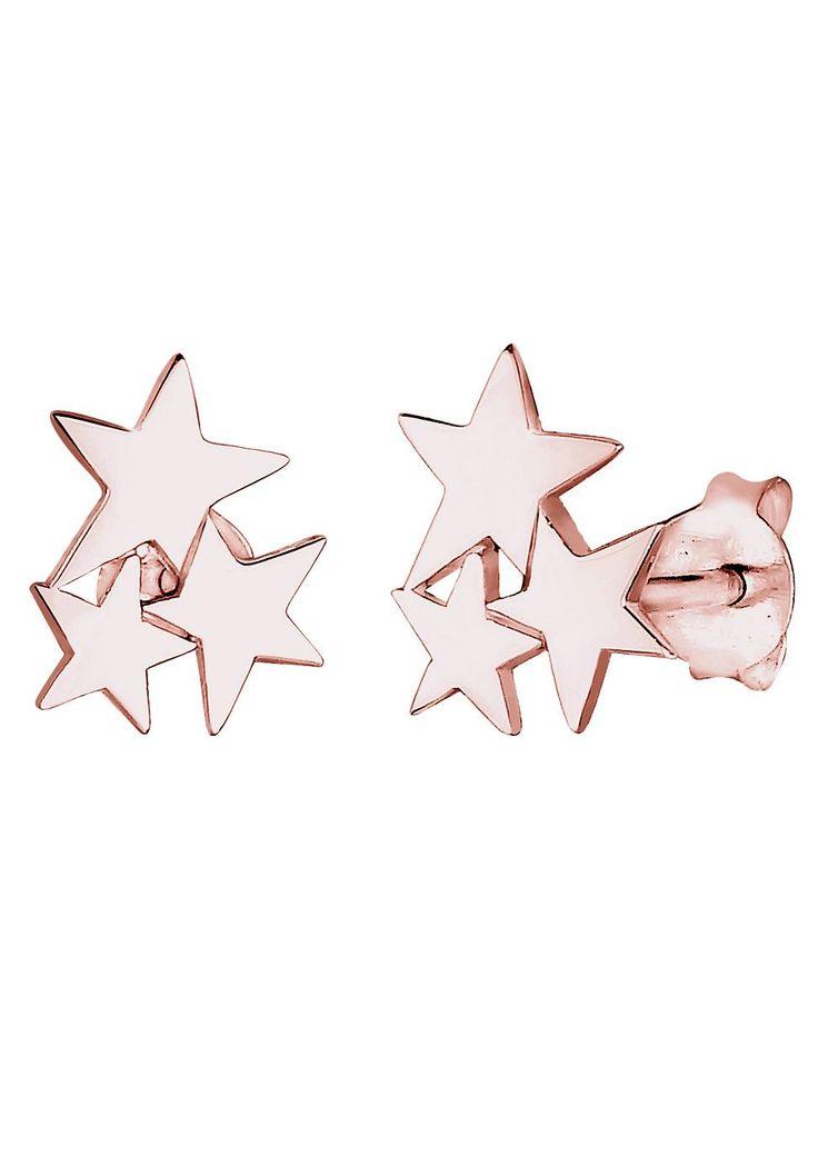 Mit diesen Ohrringen bist du der Star! Ob bei Tag oder Nacht; mit den angesagten Sternen-Ohrsteckern liegst du immer richtig. Dieses rosé-vergoldete 925er Sterling Silber Schmuckstück bringt jede Frau zum Strahlen und ist auch als Geschenk ideal geeignet.  Produktdetails: Höhe: 10mm, Breite: 8mm, Gewicht: 1,5g, Optik: glänzend,  ...