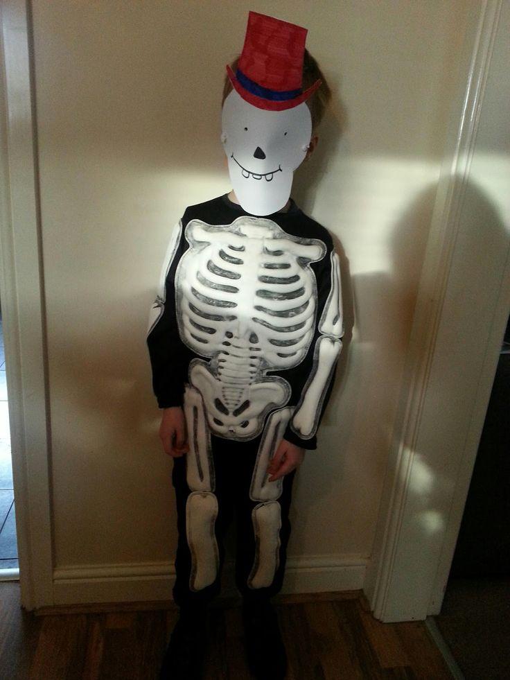Eye for a Bargain: World Book Day - my cheap and easy costume idea. In a dark, dark house...On a dark, dark Thursday! Funnybones for #worldbookday #homemade #costume #skeleton