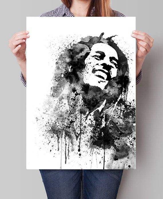 Bob Marley Art Bob Marley Poster Watercolor by FineArtCenter