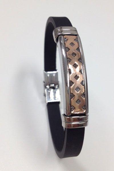 Heren As-armband, silver met rubber waarbij de as aan de boven- of zijkant verwerkt kan worden. Verkrijgbaar bij Silent-Stones in Rotterdam. (Uit de collectie See-You).