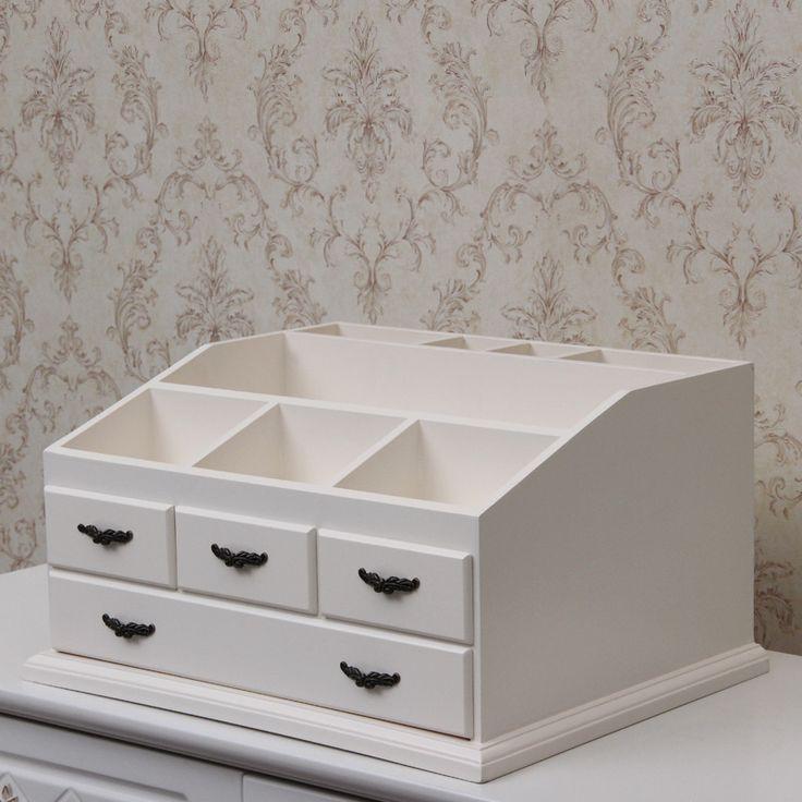 Шкатулка большая гардеробная коробка деревянные настольные сортировки ящик для хранения Европейский платье ящик шкафа бесплатно сборка макияж организатор купить на AliExpress