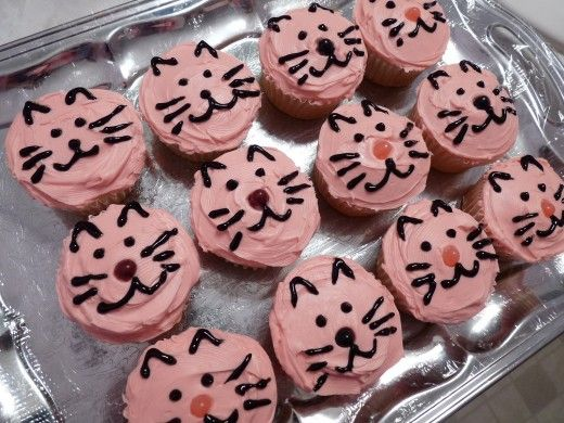 Cat Face Cupcakes for Novac kittymeows