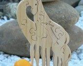 """Puzzle animaux """"la famille Girafe """" en bois découpé : Jeux, jouets par cymar-le-chantourneur"""