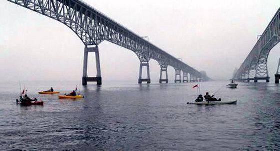 Striped bass fishing at the chesapeake bay bridge tunnel for Fishing chesapeake bay