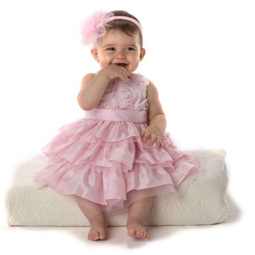 Pink Rose Sunday Silk Dress   Baby   Mud Pie