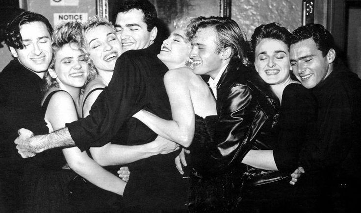 Madonna with her brothers and sisters