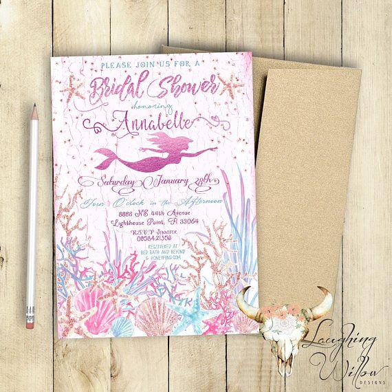 Wedding Favor Ideas Mermaid: Best 25+ Mermaid Bridal Showers Ideas On Pinterest