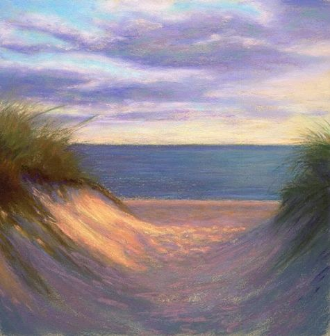 To Cape Cod Bay Coastal Painting by Poucher, painting by artist Nancy Poucher