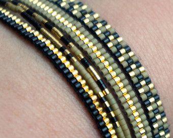 Set van 3 armbandjes met Miyuki kraaltjes Gold door YRSarmcandy