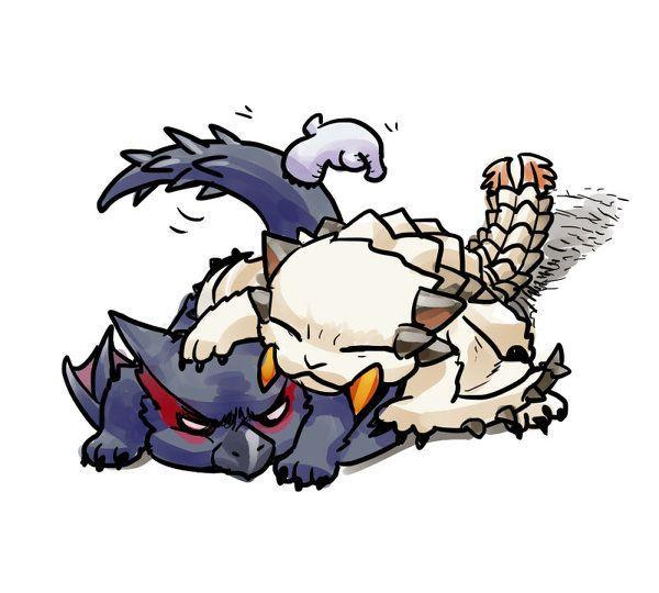 Monster Hunter - Barioth and Nargacuga