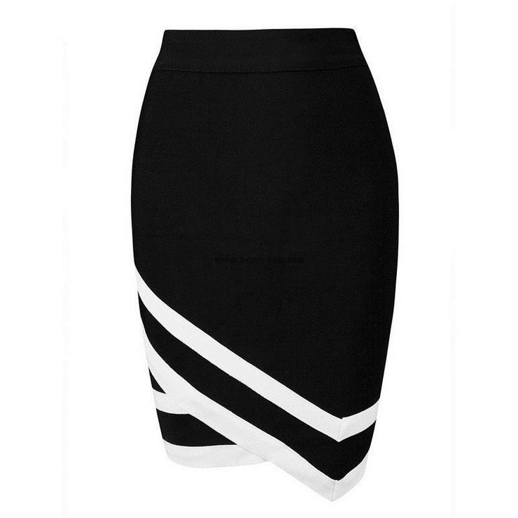 Herve Leger Black Asymmetry Sexy Bandage Skirt H1291B