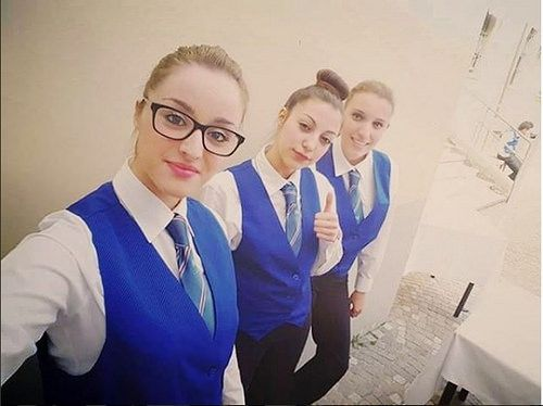 Girls Dressed In Their Work Uniforms | Karla | Flickr
