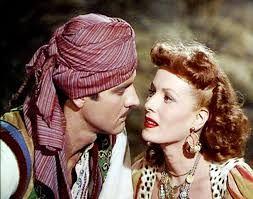 Maureen O'Hara & Paul Hubschmid in Bagdad(1949)