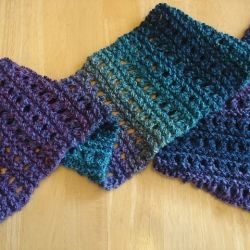 Free Knitting Pattern Tweedy Eyelet Scarf : 31 best images about Projects using alpaca yarn on Pinterest Free pattern, ...