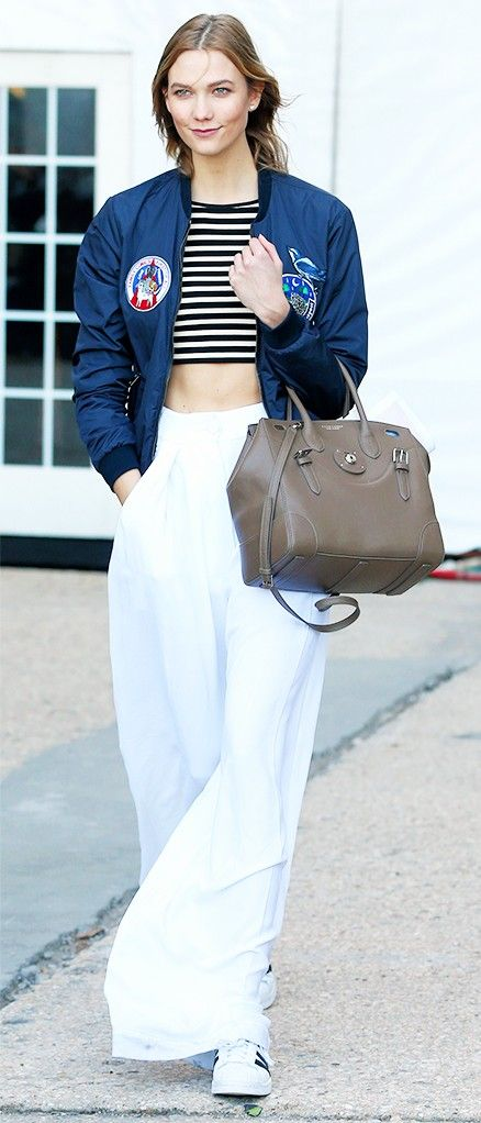 Karlie Kloss Is Obsessing Over These Pants via @WhoWhatWear