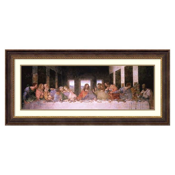 Amanti Art The Last Supper Framed Wall Art by Leonardo da Vinci, Black