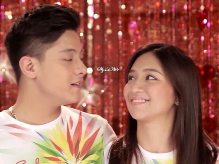 "This is the handsome Daniel Padilla and the pretty Kathryn Bernardo smiling for the camera while staring at each other and singing their parts during the recording of the ABS-CBN 2015 Christmas Station ID theme song, ""Thank You for the Love!"" last October 19, 2015. Indeed, KathNiel is my favourite Kapamilya love team, and they're amazing Star Magic talents. #KathrynBernardo #TeenQueen #DanielPadilla #KathNiel #KathNielBernaDilla #ABSCBNChristmasStationID #ThankYoufortheLove"