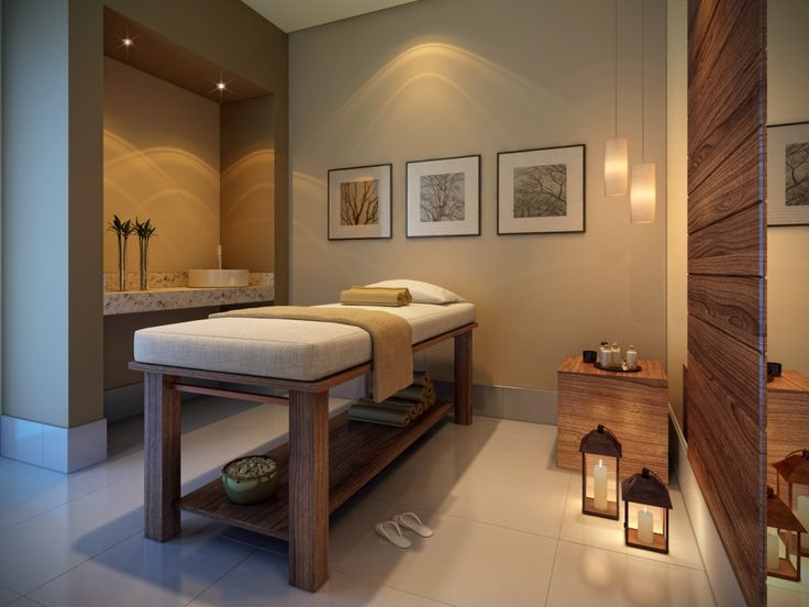 pelo largo sala de masaje flaco