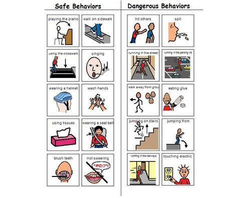 Boardmaker Achieve - Safe vs. Dangerous Behaviors | Work ...