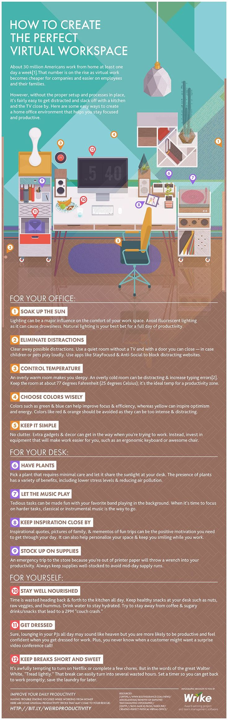 How to Create The Perfect Virtual Workspace #Infographic #HowTo