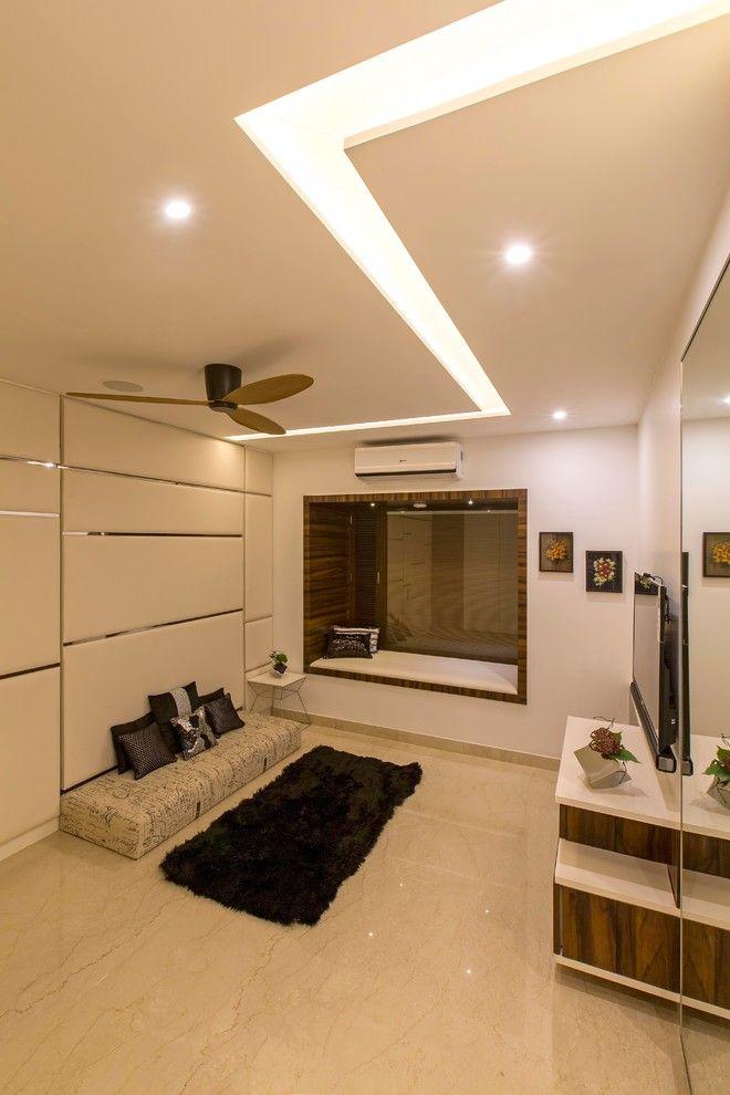 Modern Apartment Design Bangalore India Ceiling Design Bedroom