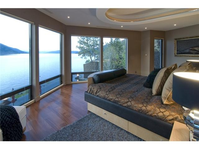 This bedroom has a gorgeous view. Kelowna, BC