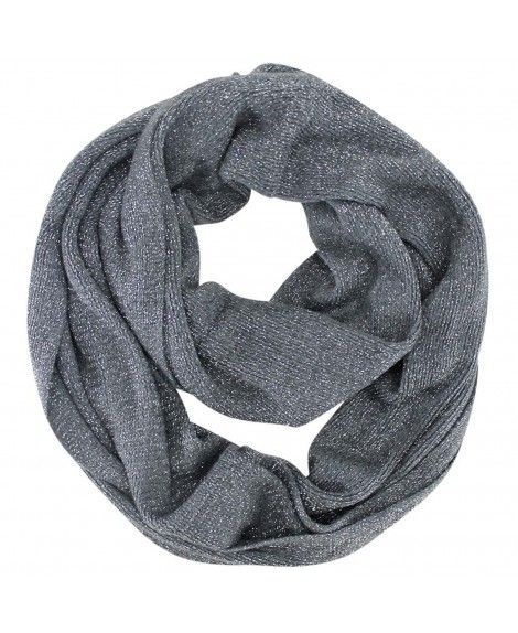 59a8792dfc3e7 Metallic Winter Knit Circle Infinity Scarf - Gray #outfit #scarves  #clodweatherscarves #beauty