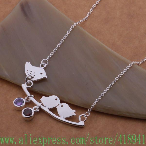 925 чистое серебро ожерелье, 925 серебро ювелирные изделия в три маленькие птицы / ertanjaa bsvakkca AN572купить в магазине aliexpress wu's storeнаAliExpress