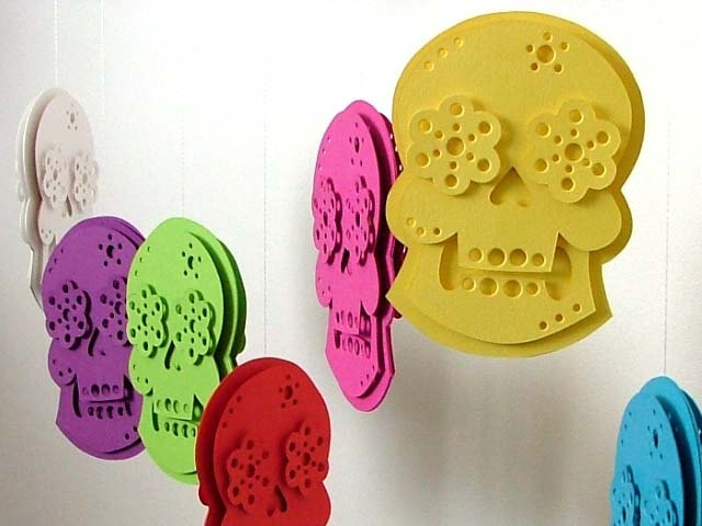 208 best wedding love story decoration images on pinterest diy wedding garland mexican sugar skulls pdf printables 1000 via etsy junglespirit Gallery
