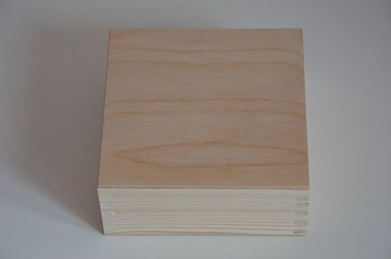 Big unfinished wooden box from natural wood by WITHwoodenLOVE
