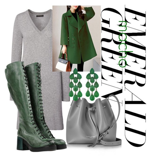 """""""Emerald macho Green"""" by inauniqe on Polyvore featuring Get It, Lancaster, Siman Tu and emeraldgreen"""