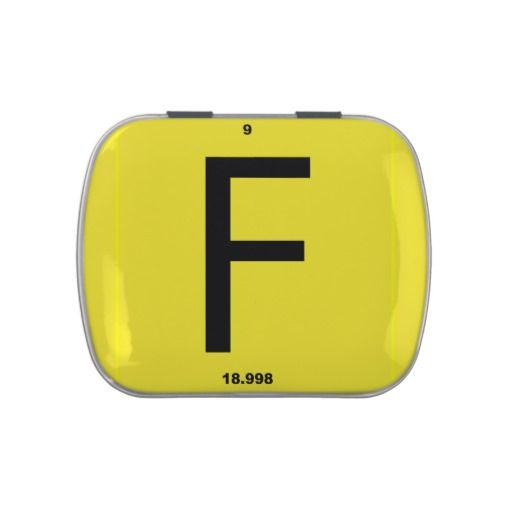 #Letter F periodic table #Candy Tin