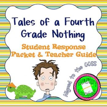 "This packet is everything you need for a novel study on ""Tales of a Fourth Grade Nothing"". This could be used for literature circles, guided reading, and more. ""Tales of a Fourth Grade Nothing"" is a student favorite and is a great opportunity for students to practice making inferences and explore characters."