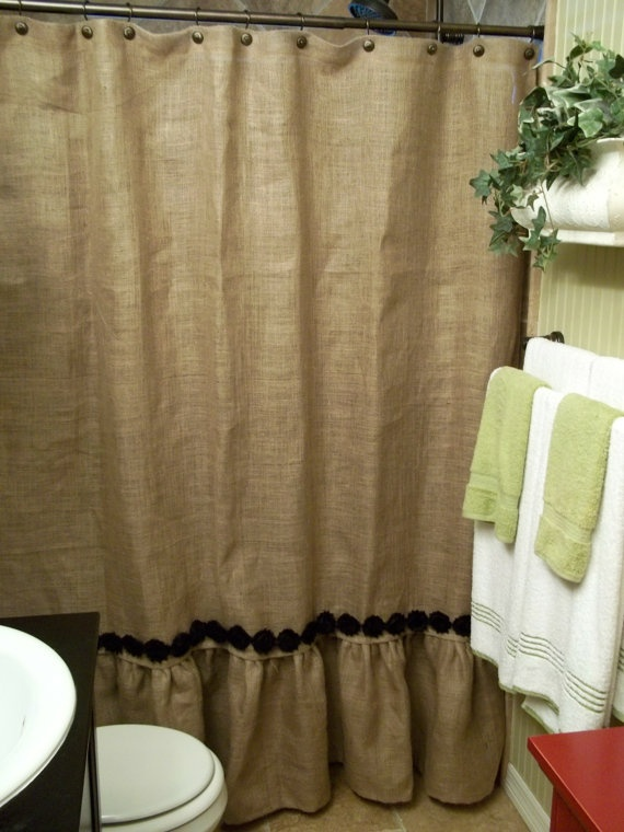 love the shower curtain plus white and green accents