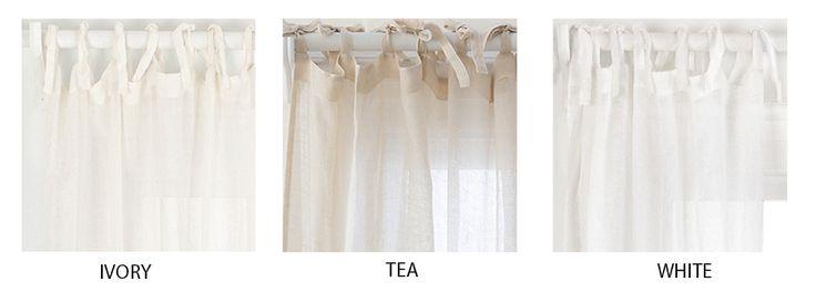Fine Linens - Savannah Linen Gauze Curtain by Pine Cone Hill