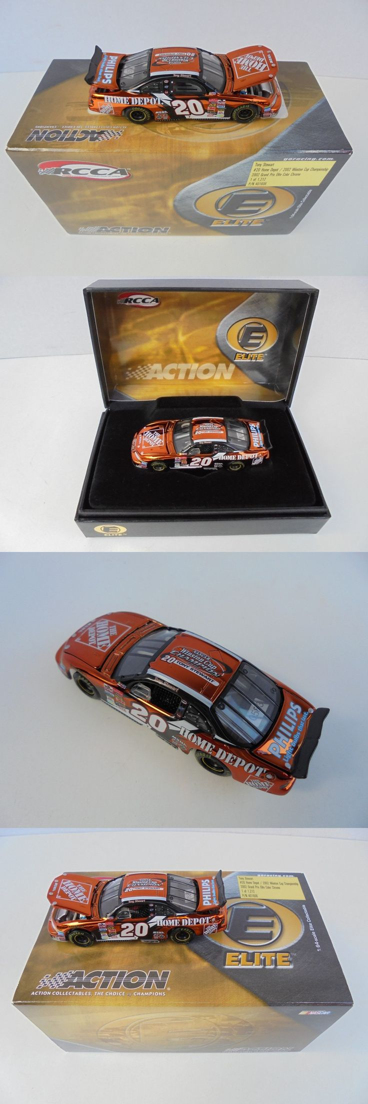 Other Diecast Racing Cars 45354: Tony Stewart #20 Home Depot 2002 Winston Cup Champion Color Chrome Action Elite -> BUY IT NOW ONLY: $45.97 on eBay!