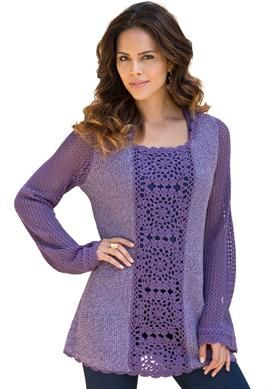 I like the idea of adding crochet to front of tunic