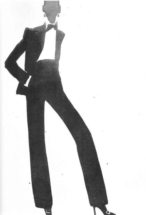 YSL Illustration by Mats Gustafson