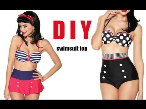 A good step by step sewing tutorial about how to make a flattering swim top. She has fabric size suggestions for cup A to D.