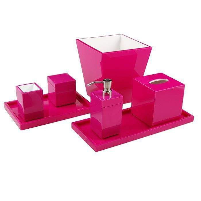 Hot Pink Lacquer Bathroom Accessories