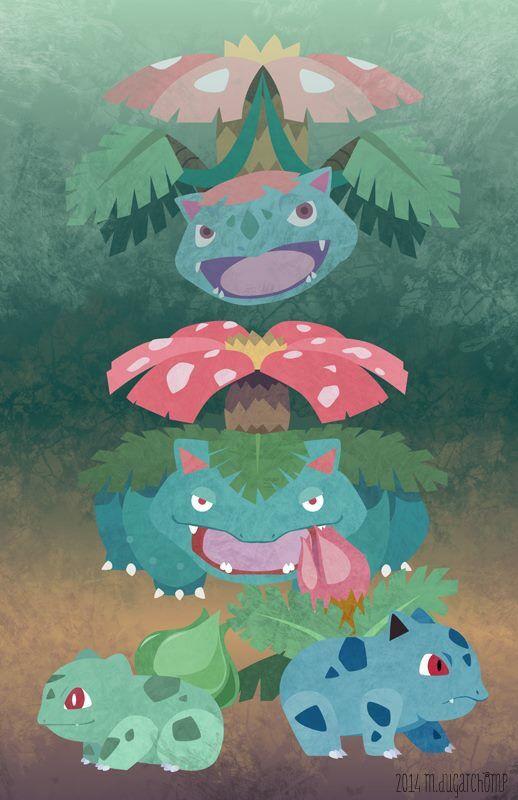 Bulbasaur evolutions iPhone wallpaper