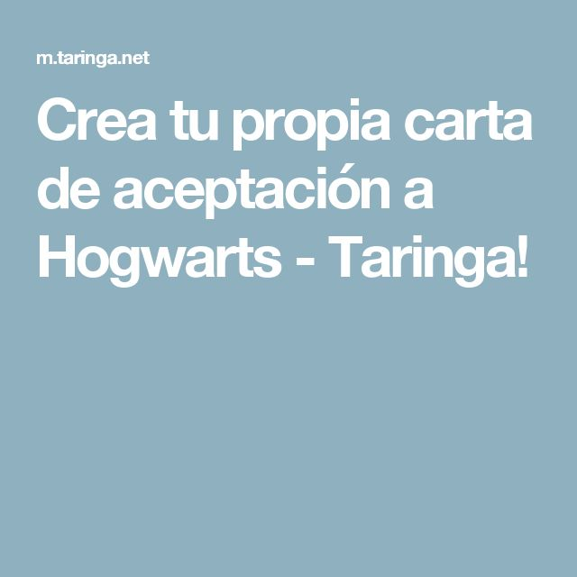 Crea tu propia carta de aceptación a Hogwarts - Taringa!