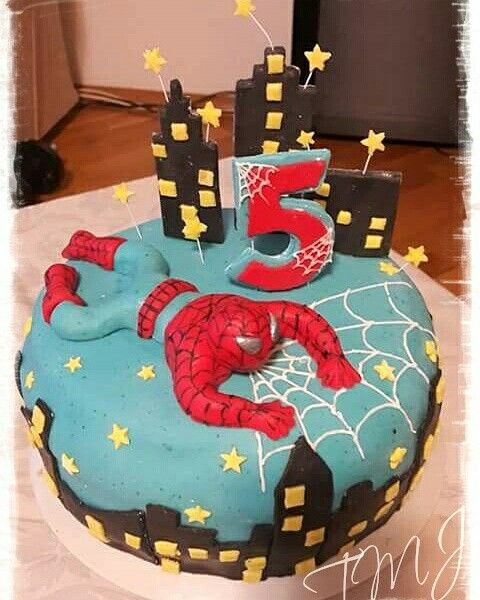#spiderman #chocolate #birthdaycake