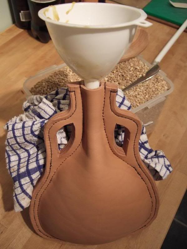 Making a Leather Bottle