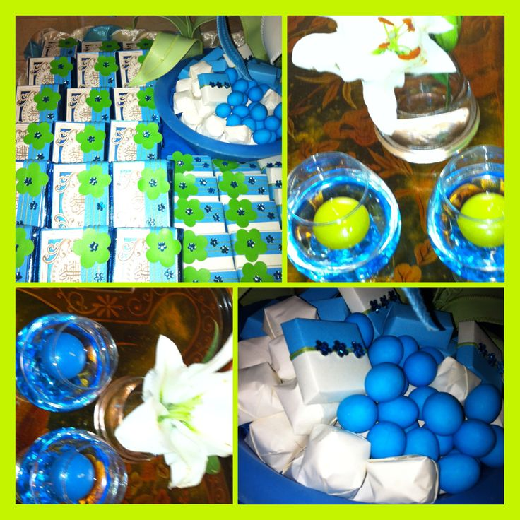 Good Blue And Green Baby Shower / My Favorite Color Combination