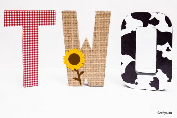 Barnyard party centerpiece Cowgirl Party Decoration by Craftytude